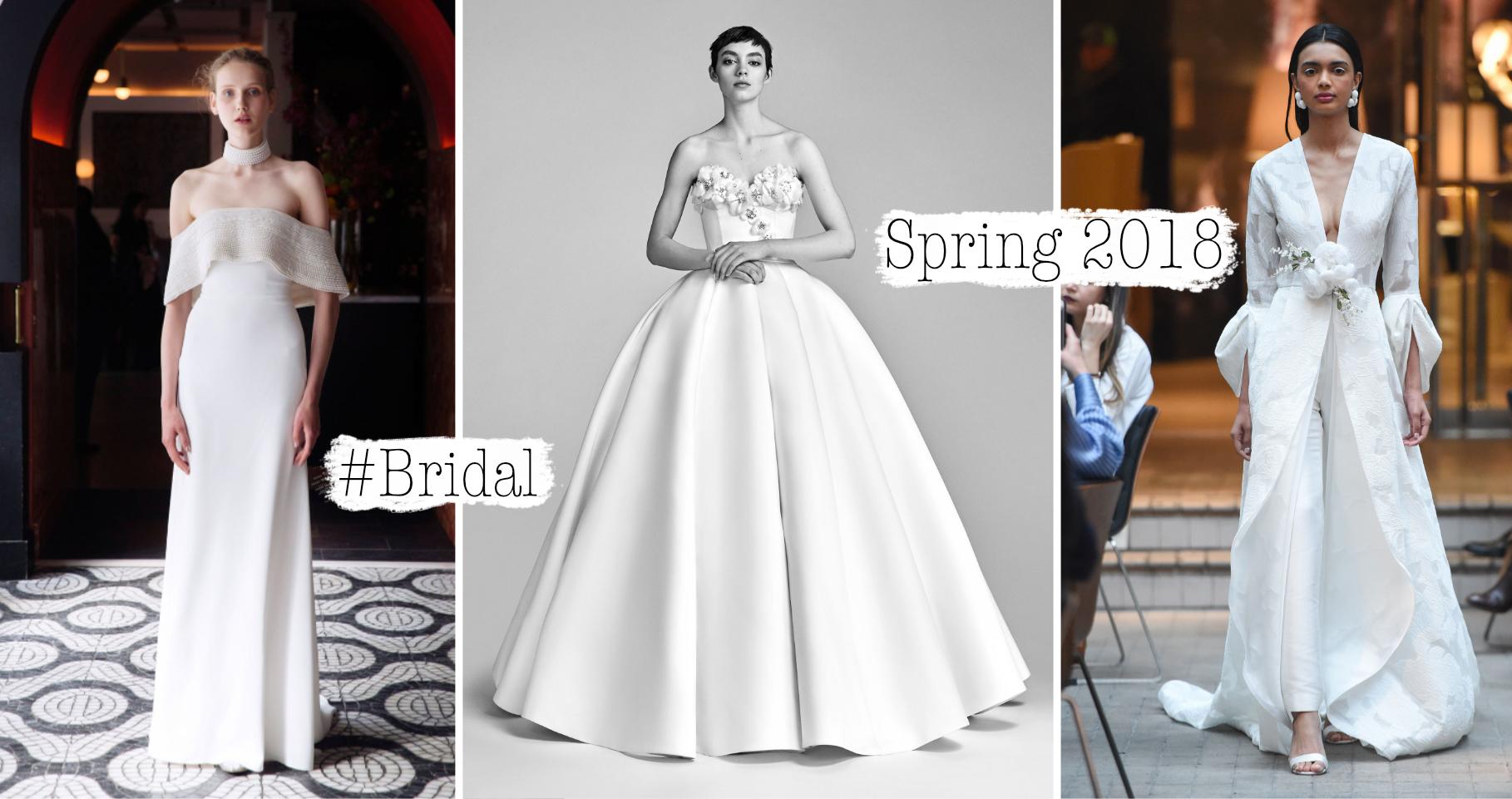c985cc014823a Gli abiti da sposa alternativi hanno ormai sostituito quelli tradizionali.  Abbiamo raccolto per voi i migliori presentati alla New York Bridal week  per la ...